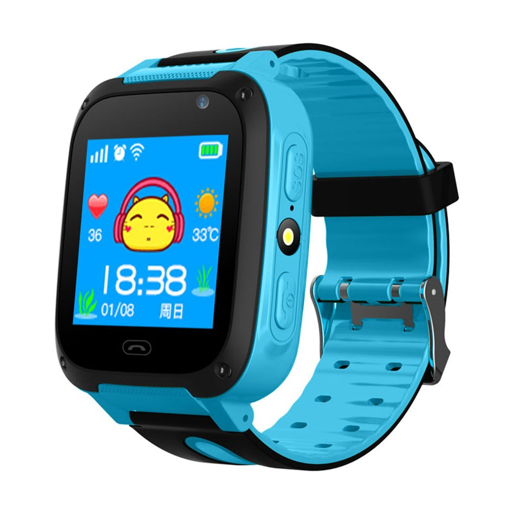 Anti-lost Children Smart Watch LBS Tracker SOS Call Remote Camera Wristwatch Phone With LED 1.44
