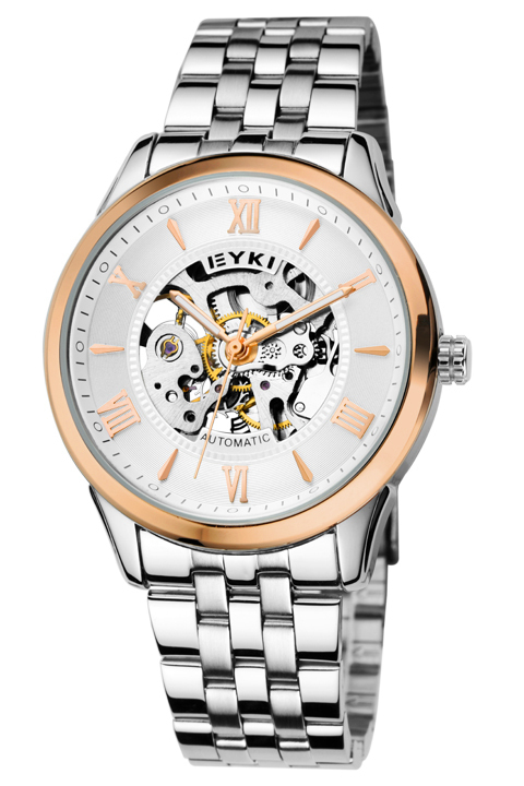 Brand EYKI Roman leisure and business men watch mechanical watch back through the hollow retro