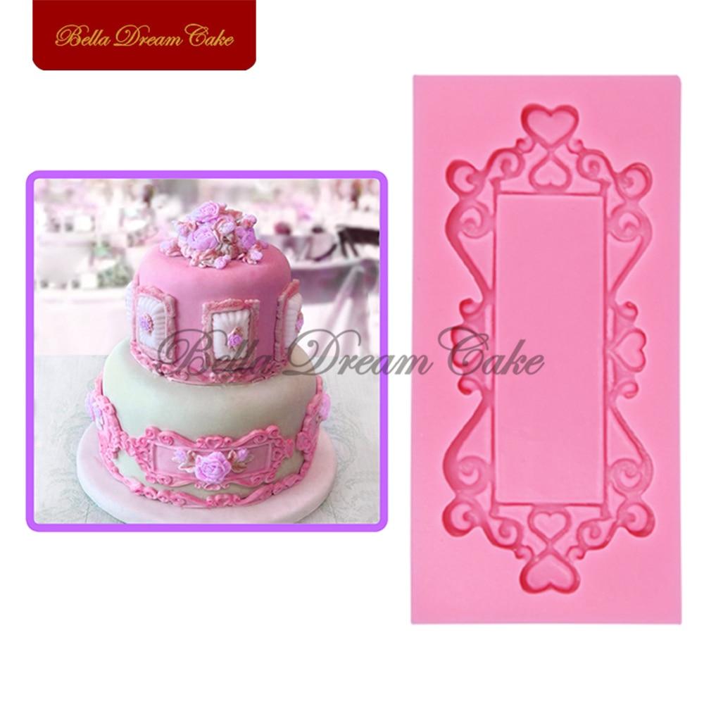 3d Rahmen Spiegel Silikon Kuchen Sugarcraft Fondant Kuchen