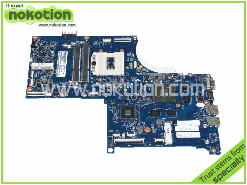 720267-501 Laptop Motherboard for HP ENVY QUAD TouchSmart 17 M7 17T HM87 GT750M DDR3 Mainboard Full Tested 720569 501 720569 001 for hp envy touchsmart 15 15 j laptop motherboard hm87 gt750m 2g notebook systemboard mainboard