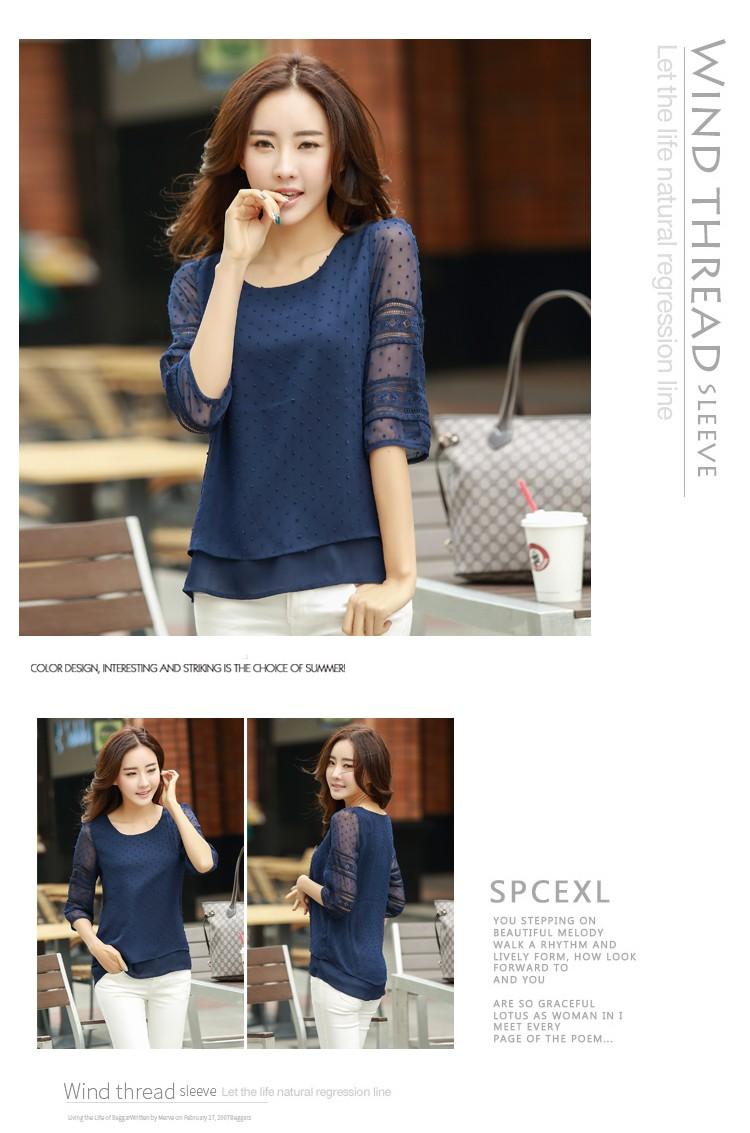 HTB1s33CLVXXXXb8XXXXq6xXFXXXW - women blusas lace half sleeve chiffon blouses shirts women