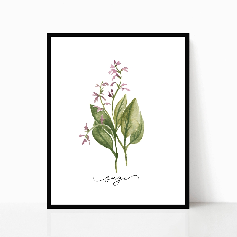 Herb Canvas Art Painting Home Decor