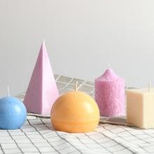 Форма для свечей Пластиковая форма для Свеча-конус DIY пирамида свеча форма простой дизайн Европа стильная свеча формы