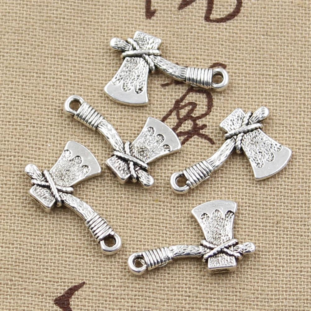 20pcs Charms Ax Tomahawk 22x14mm Antique Bronze Silver Color Pendants Making DIY Handmade Tibetan Bronze Silver Color Jewelry