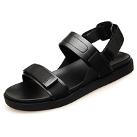 New Style Men Thick Bottom Split Leather Soft Comfortable Flat Men Summer Personality Outdoor Beach Sandals Shoes BH A0131