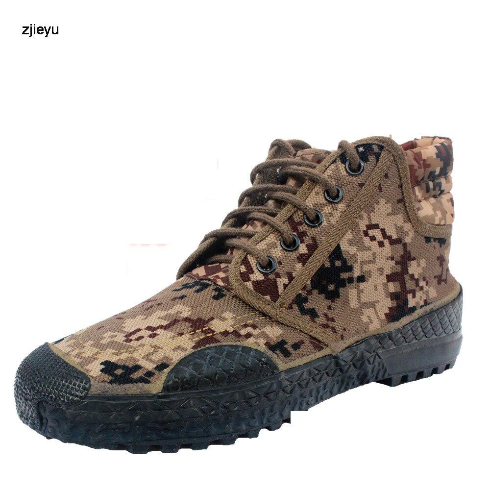 2018 bottes hommes camouflage bot doux semelles en caoutchouc toile bottes militaires Armée asker Hommes bottines Botas Automne chaussures de voyage
