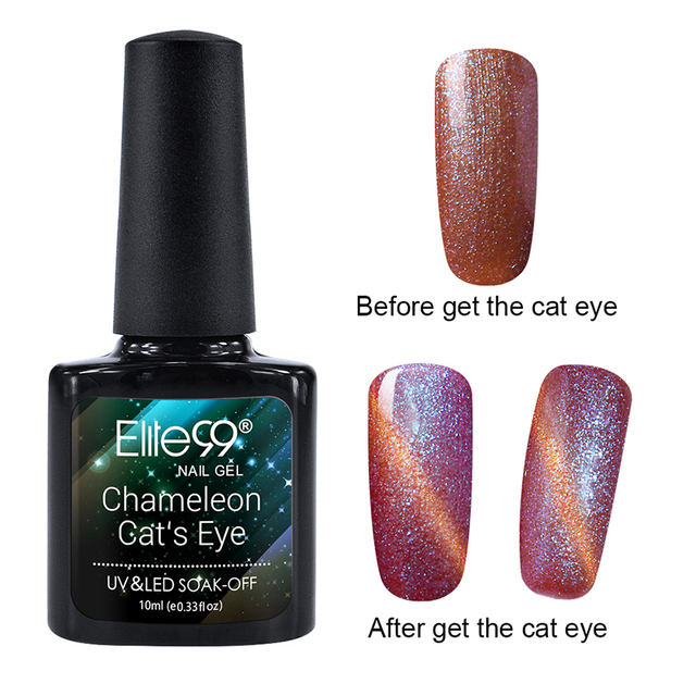 Elite99 Chamäleon Nägel UV Gel Polish Professionellen UV Farbe Cat Eye Polnischen Bling Magnet Cats' Auge Polnischen Gel Lack 10 ml