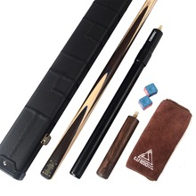 Discount! CUESOUL 18oz 1-Piece Handmade Snooker Cue with Aluminum Telescope Extension & Case
