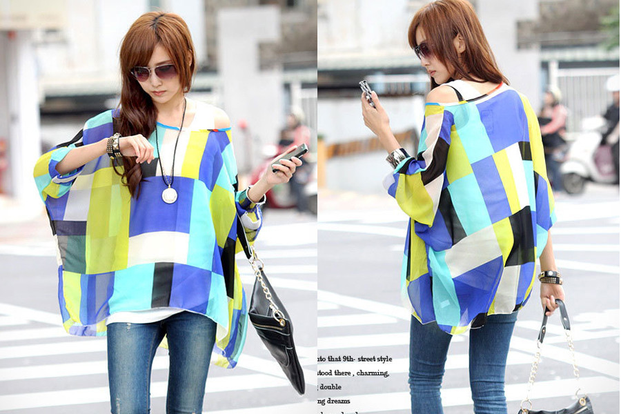 HTB1s343LXXXXXXJXVXXq6xXFXXXp - New Fashion Summer Women's Shirt Boho Style Batwing Casual