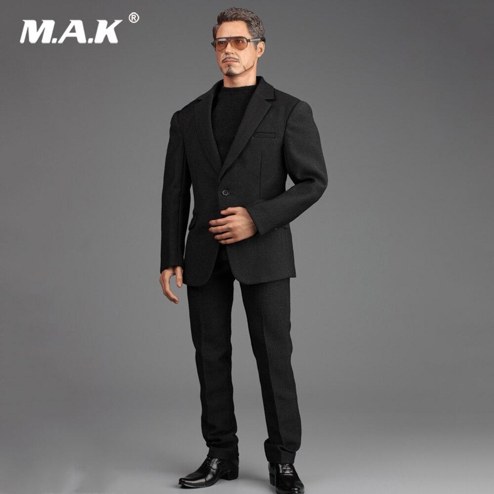 1/6 Maschio Figura Accessorio A013 Iron Man TONY Gentleman Suit Set & Scarpe Modello per 12 ''Action Figure Modello accessori del corpo-in Action figure e personaggi giocattolo da Giocattoli e hobby su  Gruppo 1