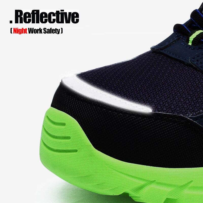 LARNMERN رجل الصلب اصبع القدم أحذية عمل واقية للرجال خفيفة الوزن تنفس مكافحة تحطيم مكافحة ثقب عدم الانزلاق الأحذية الواقية-في أحذية العمل والسلامة من أحذية على  مجموعة 2