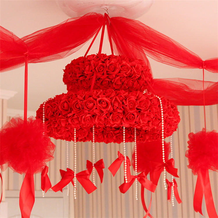 wedding Hangings flower bouquet roof flower decoration garland wedding supplies party flower decoration 2pcs/lot