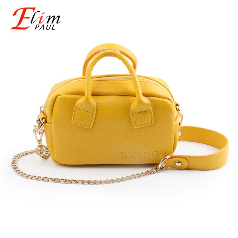 ELIM&PAUL Mini Shoulder Messenger Bag Female Crossbody Bag Women Pu Leather Chain Bolso Mujer Small Handbags For Girls Ladies