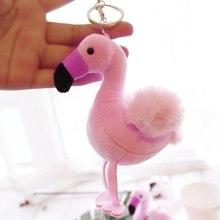 1 шт. Фламинго Птица плюшевый брелок чучело животного дикой природы Коллекционная мягкая плюшевая кукла игрушка подарок на день рождения для девочки