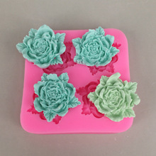 Small 3D flower silicone mould candy cake decorative chocolate Mold Craft Bath Soap Silicone