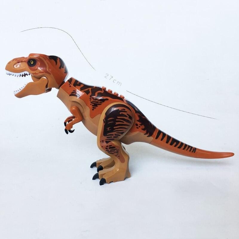 NEW JURASSIC WORLD T Rex Tyrannosaurs Rex Jurassic World Park Minifig Compatible legoe 75918 10758 Building Blocks Kids Toys