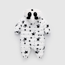 Baby Rompers Cute Panda Costumes Winter Boys Girls Jumpsuits Down Cotton Infant Overalls Kids Outfits Baby Christmas Gift