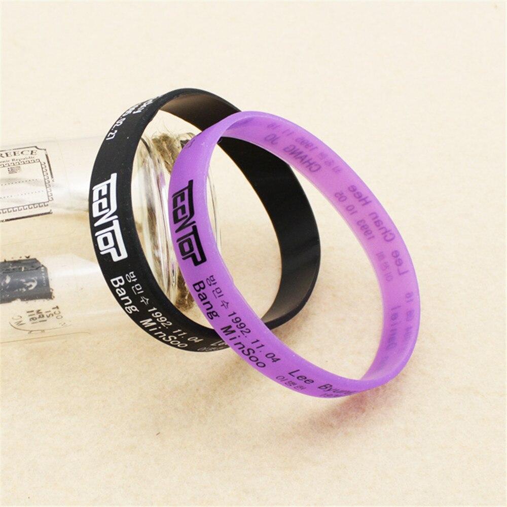 Wholesale KPOP TEEN TOP TEENTOP Noctilucent jelly bracelet Men or Women bracelet Y2462