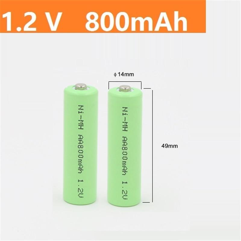 2 pçs/sets Quanlity Verde AA 800mAh 1.2 V AA Bateria Recarregável NI-mh 1.2 V Recarregável 2A Bateria Baterias Bateria AA aa