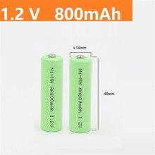 Bateria recarregável recarregável do aa ni-mh pçs/sets v da bateria 2a da bateria do aa 800mah 1.2 v quanlity do verde 2 1.2 v