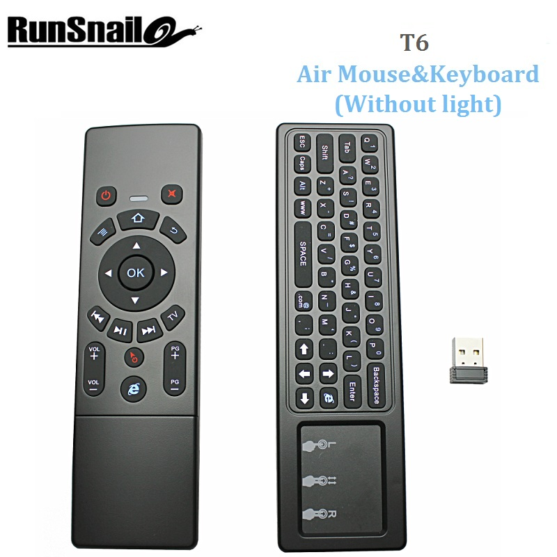 T6 Air mouse with Wireless Keyboard & touchpad Remote Control for Smart TV M8S PRO H96 PRO Android TV Box mini PC pk w1 air mous