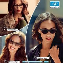 Essilor التحولات 1.56 1.59 1.60 1.67 1.74 نظارات فوتوكروميك وصفة طبية عدسات الحرباء 1Pair