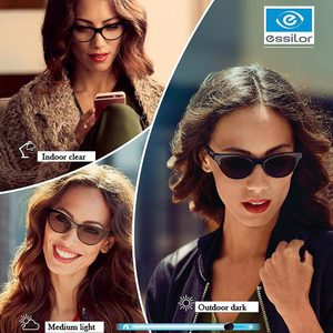 Image 1 - Essilor التحولات 1.56 1.59 1.60 1.67 1.74 نظارات فوتوكروميك وصفة طبية عدسات الحرباء 1Pair