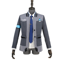 Game Detroit: Become Human Connor RK800 Agent Suit Uniform Tight Unifrom Cosplay Costume for Halloween