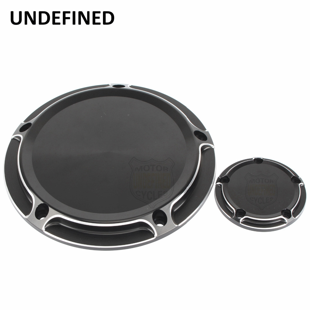 For Harley Road King Softail Dyna FLHRS FLTFB Motorbikes CNC Black Styling Derby Cover & Timer Timing Cover UNDEFINEDFor Harley Road King Softail Dyna FLHRS FLTFB Motorbikes CNC Black Styling Derby Cover & Timer Timing Cover UNDEFINED