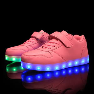 Image 3 - גודל 25 37 ילדי Led נעלי זוהר סניקרס ילד Krasovki עם תאורה אחורית USB אור עד נעלי סניקרס הזוהר עבור בני בנות