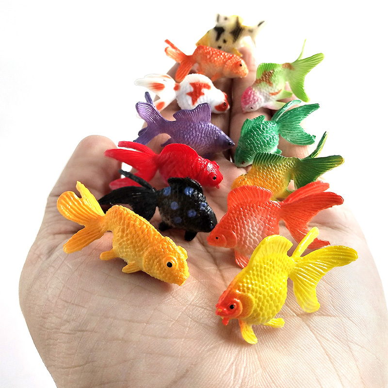 Kawaii Simulation animals model fish miniature garden Figurine home decoration accessories Decor fairy Goldfish craft Bonsai toy