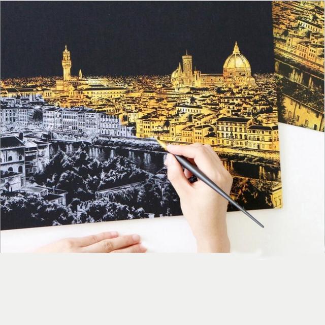 Scraping Painting Drawing
