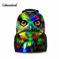 Coloranimal Colorful Women Owl Leopard Backpack 3D Animal Tiger Print Girls School Bagpack Female Mens Tourism