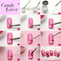 Candy Lover Nail Art Tips UV Gel Powder Dust Design 3D Manicure Nail Art Set Sculpture Caving Acrylic Powder Nail Art Decoration