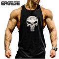 Fitness! top homens tanque de algodão colete muscular musculação e fitness clothing tops camisa sem mangas marca world of tanks