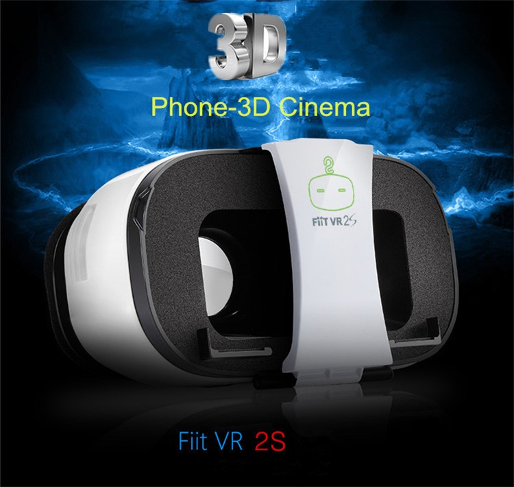 FIIT VR 2S Plastic Version Virtual Reality 3D Glasses Box Google Cardboard Oculos Rift Gear VR for 4.0-6.5 Smart Phone