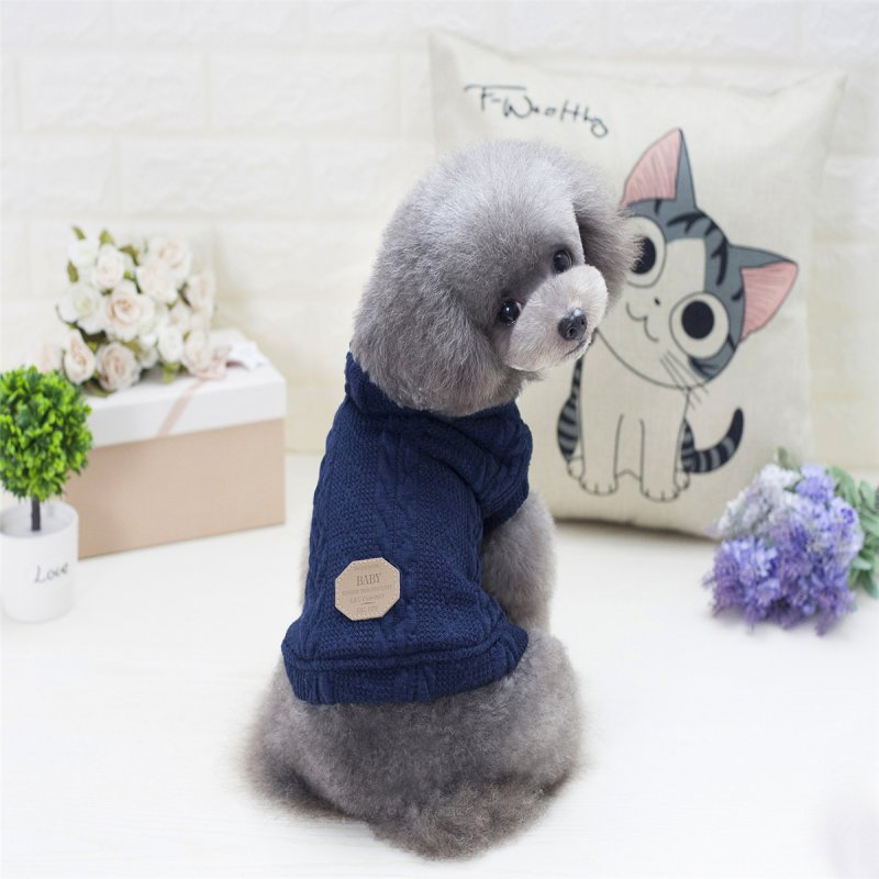 Autumn Winter Pet Dog Clothes Warm Knitting Dog Coats Jackets Sport Style Puppy Hooded Clothing For Small Medium Dogs
