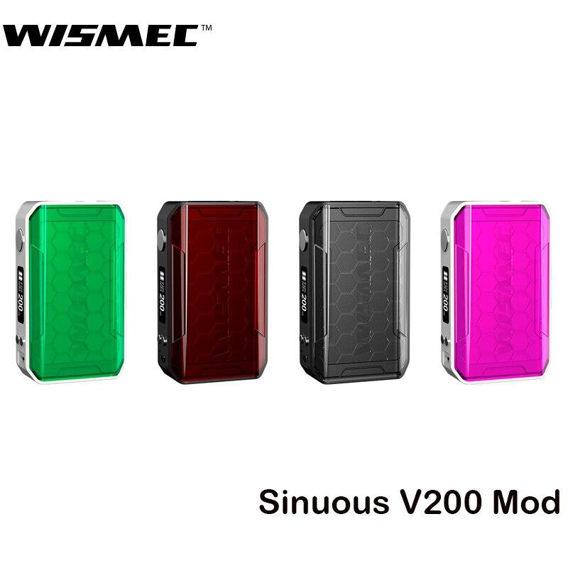 Original Wismec sinueux V200 Mod 200 W boîte Mod Vape soutien Amor NSE réservoir RDA RTA RDTA Cigarette électronique Mod VS Luxe ZV Mod