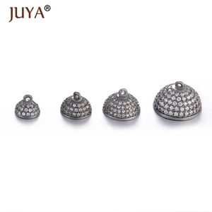 Image 4 - JUYA 10ps Wholesale Luxury AAA Zircon CZ Pave Ball Magnetic Clasps Hooks For Necklace Bracelet End Beads Chain Clasp Findings