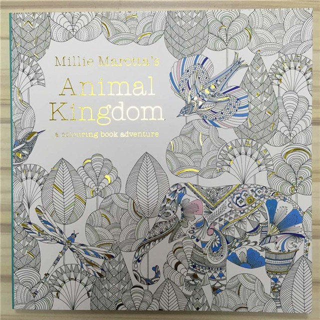 New Secret Garden 3 Animal Kingdom Coloring Book Adult Hand Drawn