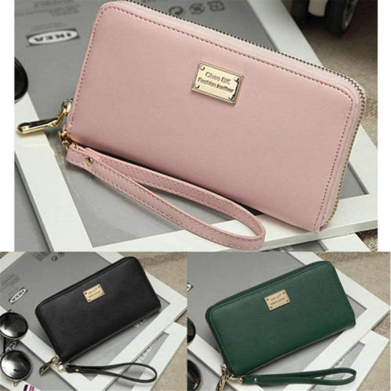 2019 New Brand Fashion Women Leather Wallet And Simple Lady Card Coin Holder Long Purse Clutch Zipper Bag