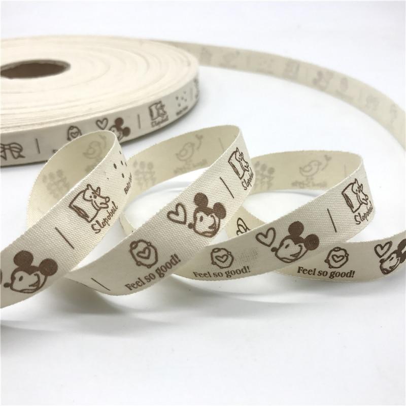 5 Yards/lot 15mm Cotton Ribbon Handmade Design Printed Cotton Ribbons For Wedding Christmas Decoration DIY Sewing Fabric
