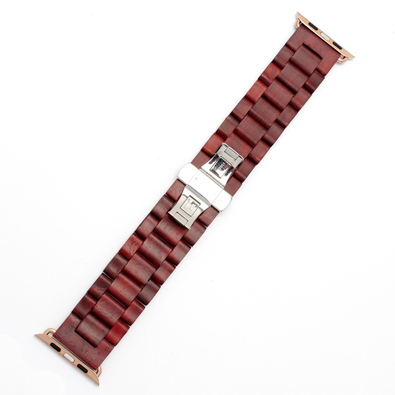 Uus puidust käevõru 22mm 24mm iwatch riba 38mm 42mm kvaliteediga - Kellade tarvikud - Foto 4