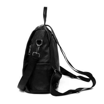 Fashion 2019 women\'s backpack youth leather retro backpack girl bag white backpack large capacity travel backpack