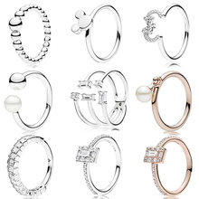 0c6b8f246 2018 Winter 925 Sterling Silver Original String of Beads Mickey Minnie  Silhouette Europe Ring For Women Charm Gift DIY Jewelry