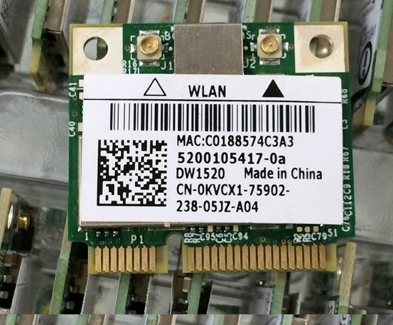 SSEA Original New Half MiniPCI-E Card 300Mbps for DELL DW1520 Wireless Card for Broadcom BCM43224 BCM943224HMS Free shipping