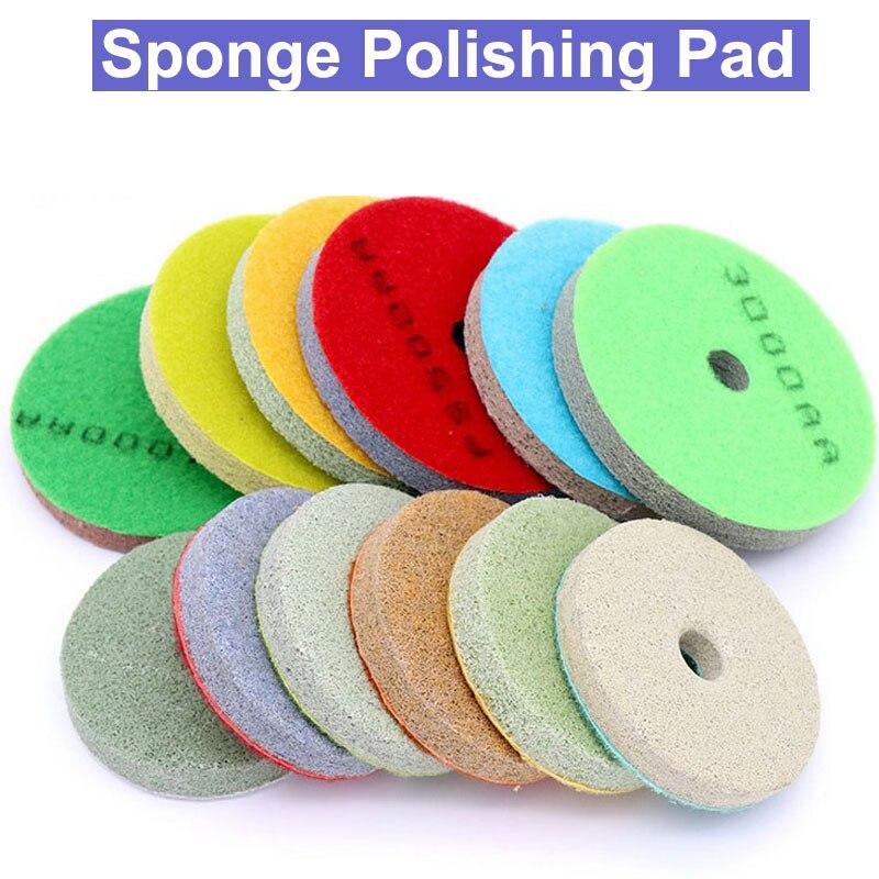 5x Green Sponge Diamond Polishing Pad for Marble Polisher 6000Grit 4inch