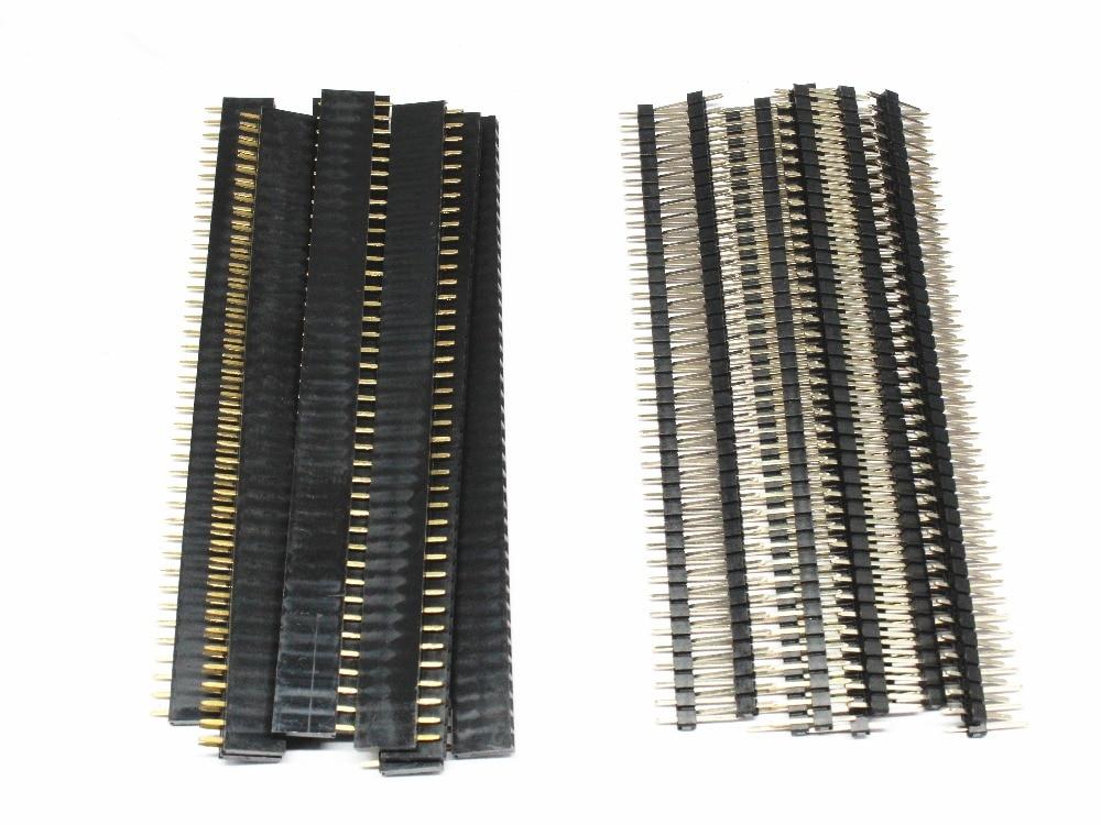 20 штук; 10 пар в комплекте; Носки для 40-контактный 1x40 однорядные мужского и женского пола 2,54 хрупкие штыревой разъем PCB JST разъем газа для Arduino ч...