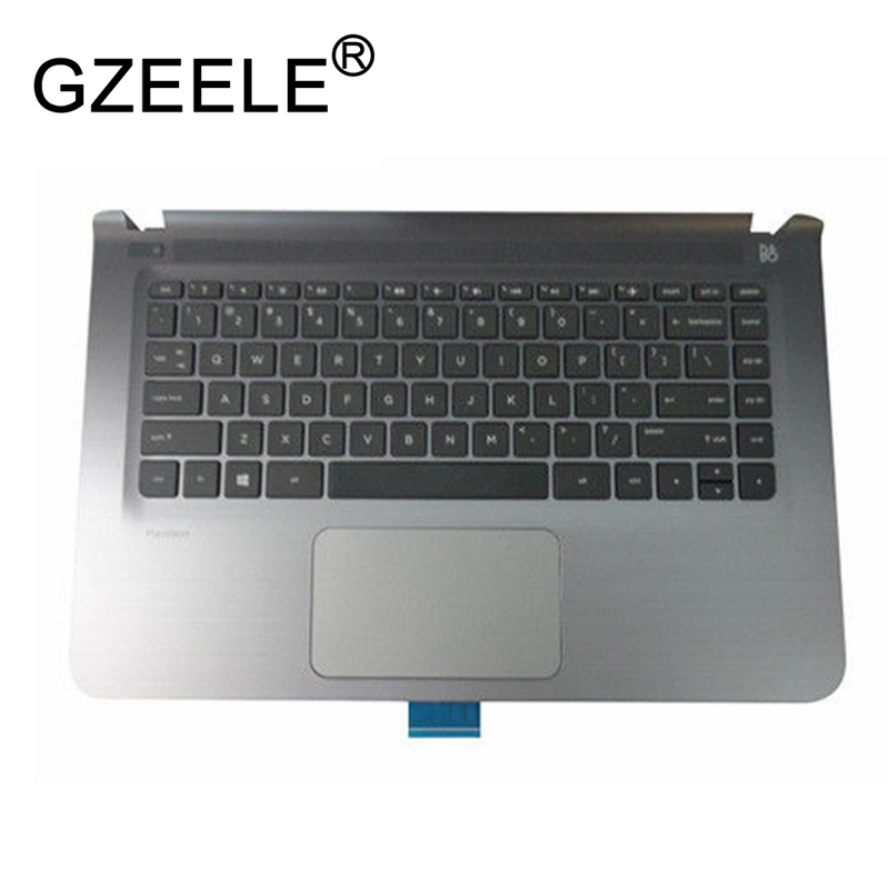 GZEELE new for HP Pavilion 14 14-AB 14-ab010tx series Palmrest Top Case Assembly upper cover Touchpad 806756-001 keyboard bezel a1 creative household wine bottle rack wine glass holder high cup rack hanging glass shelf wx6291346