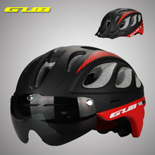 цена на GUB Cycling Helmet Ultralight mountain road Bicycle helmet with goggles outdoor MTB safety cap Bike Windproof Glasses Helmets